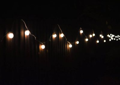 enchanted cinema halloween screenings - festoon lighting
