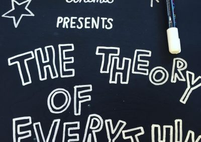 Sign for Theory of Everything at Enchanted Cinema