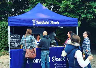 Souvlaki Shack serving their delicious souvlaki at Enchanted Cinema
