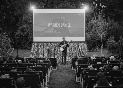 Warren Daniel back playing before Moonlight at Enchanted Cinema