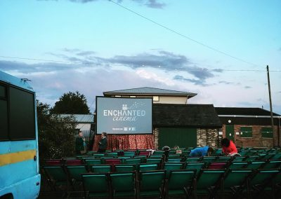What a beautiful evening! Day 1 of The Biergarten Film Festival - Enchanted Cinema